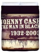 Johnny Cash Memorial Duvet Cover
