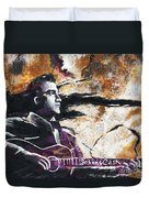 Johnny Cash Original Painting Print Duvet Cover