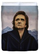 Johnny Cash Painting Duvet Cover