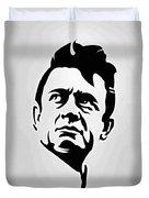 Johnny Cash Poster Art Portrait Duvet Cover