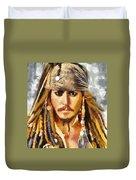 Johnny Depp Jack Sparrow Actor Duvet Cover