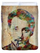Johnny Depp Watercolor Splashes Duvet Cover