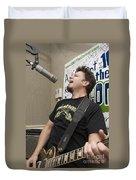 Johnny Hickman Of Cracker Duvet Cover