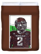 Johnny Manziel 6 Duvet Cover by Jeremiah Colley