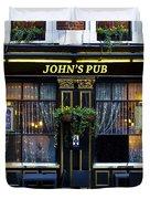 John''s Pub Duvet Cover