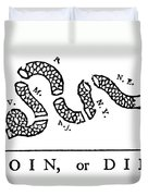 Join Or Die Duvet Cover by Anonymous