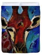 Jolly Giraffe  Duvet Cover