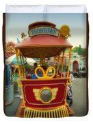 Jolly Trolley Disneyland Toon Town Duvet Cover