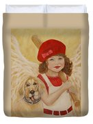 Joscelyn And Jolly Little Angel Of Playfulness Duvet Cover by The Art With A Heart By Charlotte Phillips