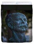 Jose Marti Statue Cadiz Spain Duvet Cover