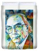 Jose Saramago Portrait Duvet Cover