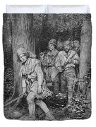 Joseph Brown Leading His Company To Nicojack, The Stronghold Of The Chickamaugas, Engraved Duvet Cover