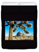 Joshua Tree And Jumbo Rocks By Quail Springs In Joshua Tree Np-ca Duvet Cover