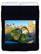Joshua Tree Bowing Down At Quail Springs In Joshua Tree Np-ca Duvet Cover
