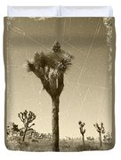 Joshua Tree National Park - Old Vintage Sepia Duvet Cover