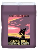 Joshua Tree National Park Vintage Poster Duvet Cover