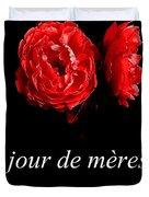 Jour De Meres Heureux Duvet Cover
