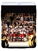 Joy Of Victory Agony Of Defeat Duvet Cover