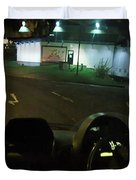 Joy Ride At Mid Night In Paris View From Rear   Of Limo Duvet Cover