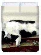 Joyful Kitty Duvet Cover