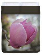 Joyful Pink Magnolia Duvet Cover