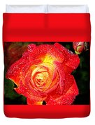 Joyful Rose Duvet Cover