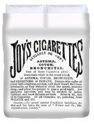 Joys Cigarettes, 1884 Duvet Cover