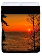 Juan De Fuca Sunset Duvet Cover