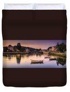 Jubia River Panorama Neda Naron Galicia Spain Duvet Cover