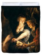 Judith With The Head Of Holofernes Duvet Cover