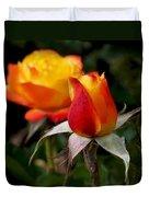Judy Garland Rose Duvet Cover by Rona Black