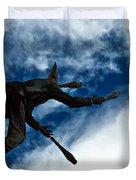 Juggling Statue Duvet Cover