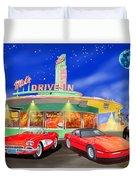 Julies Corvettes Duvet Cover by Jack Pumphrey
