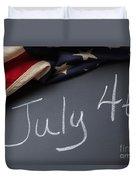 July 4 Sign On Chalkboard Duvet Cover