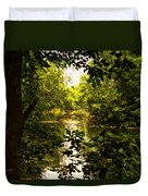 July Indian Lake Looking North Duvet Cover
