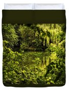 July Tranquil Indian Lake Duvet Cover