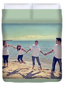 Jump For Joy Duvet Cover by Laurie Search