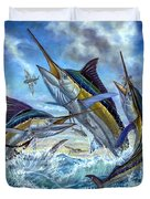 Jumping Grand Slam And Flyingfish Duvet Cover by Terry  Fox