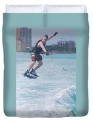 Jumping Wakeboarder Duvet Cover