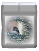 Junco In Pine Duvet Cover