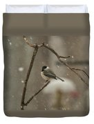 Junco In The Snow Duvet Cover