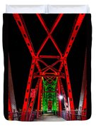 Junction Bridge - Red Duvet Cover