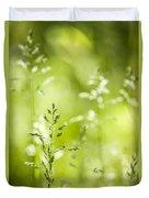 June Green Grass Flowering Duvet Cover