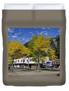 Juneau In The Fall Duvet Cover