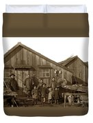 Jung San Choy And Chinese Family Pescadero Village Pebble Beach California Circa 1895 Duvet Cover