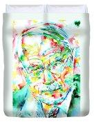 Jung - Watercolor Portrait.2 Duvet Cover