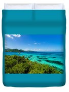 Jungle And Turquoise Water Duvet Cover