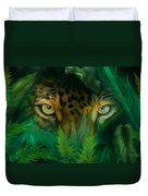 Jungle Eyes - Jaguar Duvet Cover