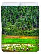 Jungle Homestead Paint Version Duvet Cover