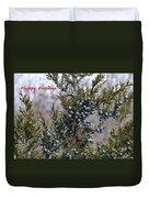 Juniper Berries - Happy Holidays Duvet Cover